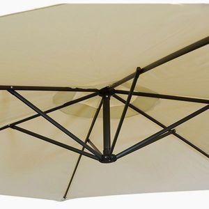 Sonnenschirm Ampelschirm 300 cm mit Fuß, beige – Bild 3