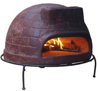 """Pizzaofen Premium Venedig """"Grande"""" von Sol-y-Yo® - Steinbackofen aus Terrakotta 68 cm inkl. Schutzhülle"""