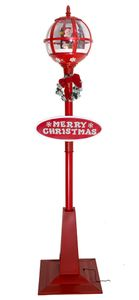 Schneiende LED-Laterne Santa 175 cm Weihnachtsdekoration – Bild 1