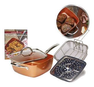 Copper Chef Keramik-Eckpfanne 24 cm, 4-tlg. Set