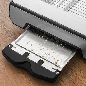 Flachtoaster 600W Edelstahl - Toaster zum Auflegen – Bild 2