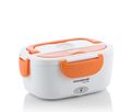 Elektrische Lunchbox Warmhaltebox weiß-orange für Autos 40 W