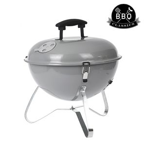 Tragbarer Holzkohlegrill Kugelgrill Classic Grey Edition mit Abdeckung