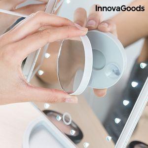 Beleuchteter 4in1 LED DeLuxe Schminkspiegel Zoom Kosmetikspiegel Make Up Spiegel – Bild 5