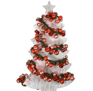 LED Weihnachtsgirlande Lichterkette 180 cm rot – Bild 2
