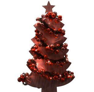 LED Weihnachtsgirlande Lichterkette 180 cm rot – Bild 3