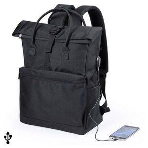 Rucksack Premium mit USB-Anschluss für Smartphone und Laptop – Bild 1