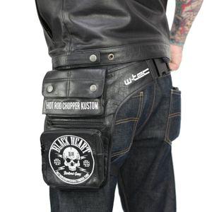 Motorrad-Oberschenkeltasche W-Tec Rodolero Black Heart Beintasche Echtleder – Bild 2
