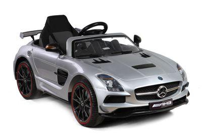 Elektrofahrzeug Mercedes-Benz SLS AMG 12V Silver Edition für Kinder – Bild 1