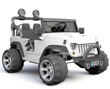 Elektrofahrzeug Monster Truck White 12V für Kinder