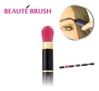 Beauté Brush Black/Pink - Luxus Make Up Pinsel 4in1