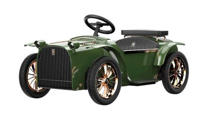 D.Throne Vintage Luxury E-Car Green Kinderauto elektrisch – Bild 1