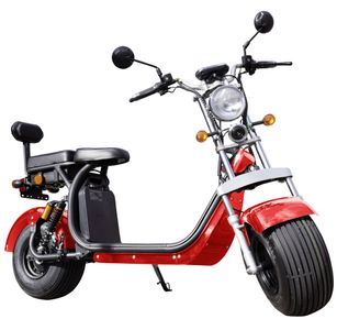 Elektroroller E-Scooter Chopper Big Wheeler inkl. Staßenzulassung 45 km/h Lithium Red – Bild 1
