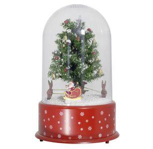 Schneiende LED-Kuppel Baum 35 cm Weihnachtsdekoration, rot