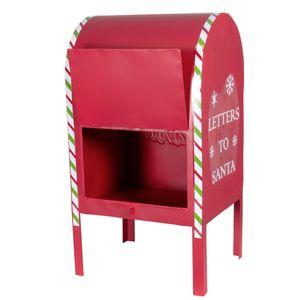Briefkasten an den Weihnachtsmann Nikolaus für Wunschzettel Santa Deko 52cm Weihnachtsdekoration handbemalt – Bild 2