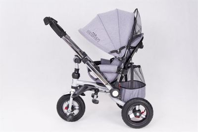 Dreirad ORION Grey 3in1 Kinderwagen Buggy DeLuxe lenkbar – Bild 4
