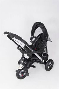 Dreirad ORION Black 3in1 Kinderwagen Buggy DeLuxe lenkbar – Bild 7