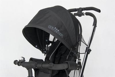 Dreirad ORION Black 3in1 Kinderwagen Buggy DeLuxe lenkbar – Bild 6