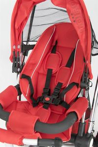 Dreirad ORION Red 3in1 Kinderwagen Buggy DeLuxe lenkbar – Bild 8