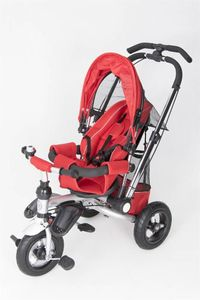 Dreirad ORION Red 3in1 Kinderwagen Buggy DeLuxe lenkbar – Bild 5