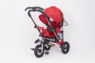 Dreirad ORION Red 3in1 Kinderwagen Buggy DeLuxe lenkbar – Bild 3