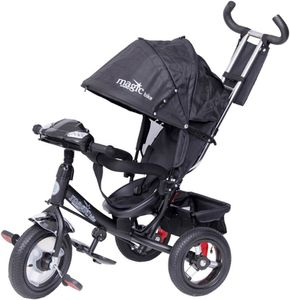 Dreirad Magic Bike Buggy DeLuxe Black mit Licht und Sound lenkbar – Bild 1