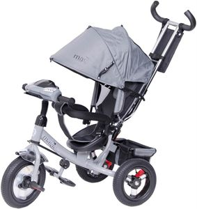 Dreirad Magic Bike Buggy DeLuxe Grey mit Licht und Sound lenkbar – Bild 1