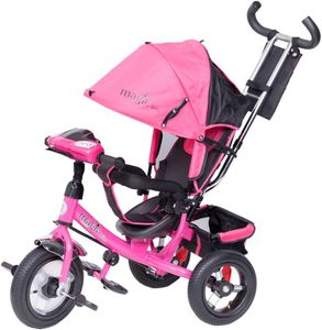 Dreirad Magic Bike Buggy DeLuxe Pink mit Licht und Sound lenkbar