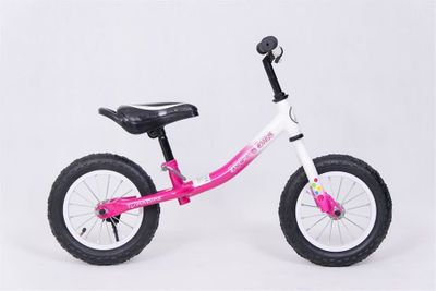 Laufrad 12 Zoll Booble Bike Pink/White Cross Country Runbike – Bild 4