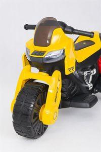Kindermotorrad Super Trike 12V gelb Kinderfahrzeug elektrisch – Bild 6