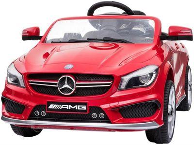 Kinderauto Mercedes Benz CLA AMG m. Unterbodenbeleuchtung 12V rot Kinderfahrzeug elektrisch – Bild 1