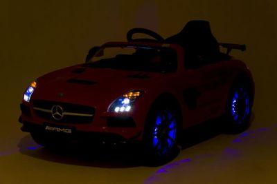 Kinderauto Mercedes Benz AMG m. Radio u. LED 12V rot Kinderfahrzeug elektrisch – Bild 4