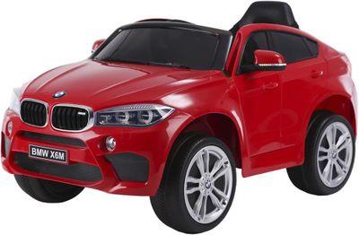 Kinderauto BMW X6M LED 12V rot Kinderfahrzeug elektrisch – Bild 1