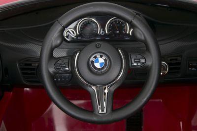 Kinderauto BMW X6M LED 12V rot Kinderfahrzeug elektrisch – Bild 6