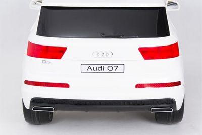 Kinderauto Audi Q7 Quattro Luxury 12V weiß Kinderfahrzeug elektrisch – Bild 2