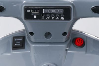 Kinderroller VESPA Classic 12V grey Kinderfahrzeug elektrisch – Bild 8