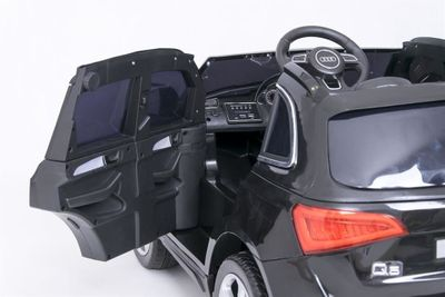Kinderauto Audi Q5 Quattro Luxury 12V schwarz Kinderfahrzeug elektrisch – Bild 2