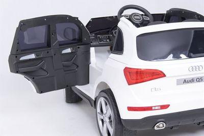 Kinderauto Audi Q5 Quattro Luxury 12V weiß Kinderfahrzeug elektrisch – Bild 3