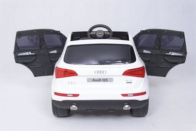 Kinderauto Audi Q5 Quattro Luxury 12V weiß Kinderfahrzeug elektrisch – Bild 7
