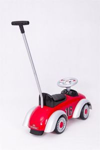 Ride-On Rutscher Classic Retro Car red Kinderrutscher 2in1 – Bild 3