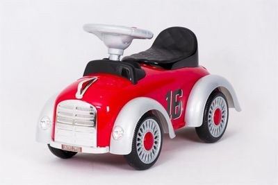 Ride-On Rutscher Classic Retro Car red Kinderrutscher 2in1 – Bild 4