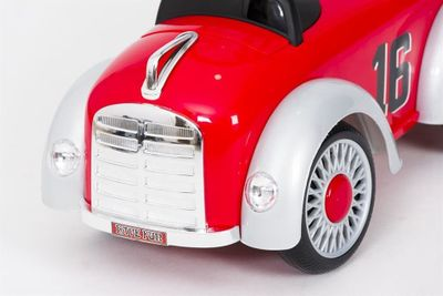 Ride-On Rutscher Classic Retro Car red Kinderrutscher 2in1 – Bild 7