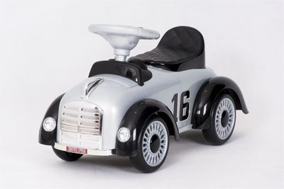 Ride-On Rutscher Classic Retro Car white Kinderrutscher 2in1 – Bild 4