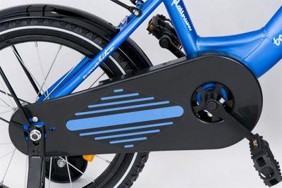 "Kinderfahrrad 16 Zoll ""Tomabike Platinum"" Blue inkl. Fahrradkorb u. Stützrädern – Bild 5"