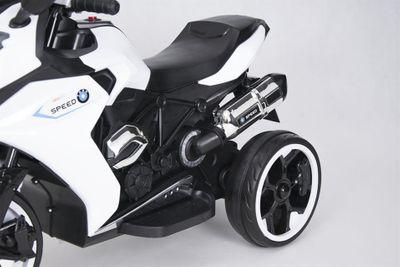 Kindermotorrad Speed Racer White Trike 6V  Kinderfahrzeug elektrisch Elektromotorrad – Bild 8