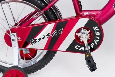 Kinderfahrrad 16 Zoll Speedy Red inkl. Fahrradkorb u. Stützrädern – Bild 4