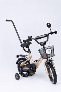 "Kinderfahrrad 12 Zoll ""Tomabike Platinum"" Gold/Black inkl. Fahrradkorb u. Stützrädern – Bild 1"
