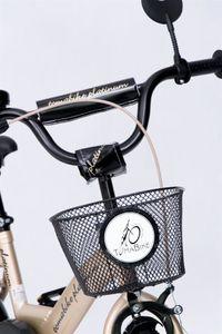 "Kinderfahrrad 12 Zoll ""Tomabike Platinum"" Gold/Black inkl. Fahrradkorb u. Stützrädern – Bild 2"