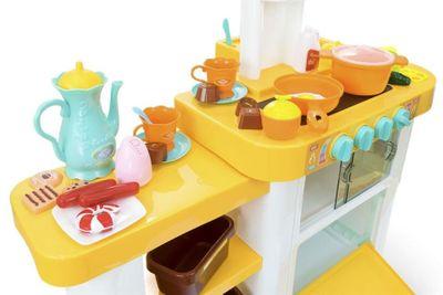 Multifunktionelle Kinderküche Home Kitchen mit viel Zubehör und Funktionen – Bild 8