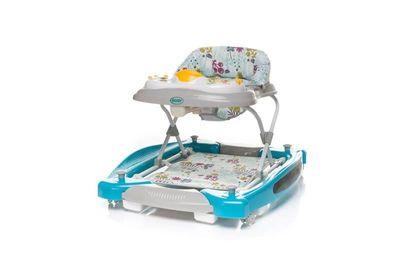 Lauflernhilfe Baby Walker SWING`N GO 3in1 türkis Gehfrei Lauflernwagen DeLuxe – Bild 1